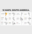 south america map infographic templates vector image