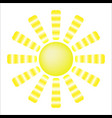 sun with yellow rays vector image vector image