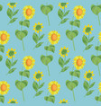 sunflower floral seamless pattern vector image vector image