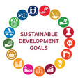 sustainable development goals round concept vector image vector image