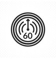 symbol sixty minutes or one hour vector image vector image