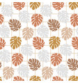 trendy seamless pattern with monstera leaves vector image vector image