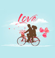 valentines day background with a heart ballons vector image vector image
