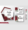 wedding invite invitation thank you card design vector image vector image