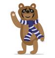 bear waving hand vector image