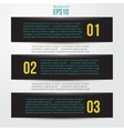 Simple black horizontal banners vector image