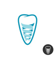 Tooth implant logo Teeth outline symbol with vector image