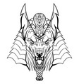 ancient egyptian god anubis head vector image
