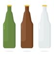 set of color beer bottle vector image