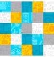 Abstract background of the business icons vector image vector image