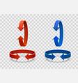 arrow rotation 3d art info vector image vector image