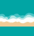 beach sand seashore with blue azure waves sea