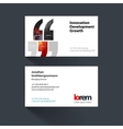 Business card template with quotes commas