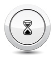 Button with Sand Clock Icon vector image vector image