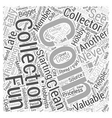 BWCC coin collecting for dummy Word Cloud Concept vector image vector image