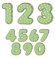 cactus font vector image vector image