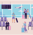 character people at airport vector image