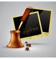 coffee pot vector image vector image