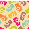 color retro seamless photo camera with vector image vector image