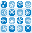 color snowflake icon set vector image vector image