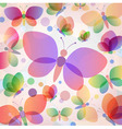 Colorful butterflies summer pattern vector image