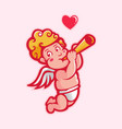 cupid playing trumpet vector image