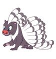 cute cartoon porcupine vector image vector image