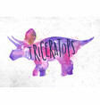 dinosaur triceratops vivid vector image