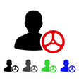 driver person flat icon vector image vector image