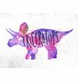 dynosaur triceratops vivid vector image vector image