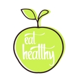 Eat healthy poster vector image