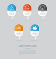 ecology icons set collection of sunny weather vector image vector image