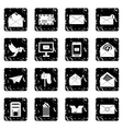 Email set icons grunge style vector image vector image