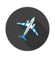 flat icon aircraft vector image vector image