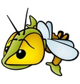flying bug vector image vector image