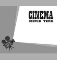 for movie time camera stylish design vector image