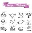 Hand draw icon element valentine vector image vector image