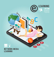 Infographic Education Media Learning Template vector image vector image