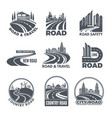 logos with curved pathways and place for your text vector image