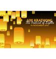 Loy Krathong greeting card vector image vector image