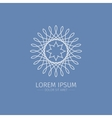 Luxury Logotype White logotype White Flower vector image