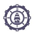 Nautical vintage icon vector image