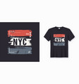new york city stylish t-shirt and apparel abstract vector image vector image