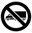 no truck or no parking forbidden sign modern vector image