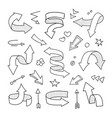 pencil sketch arrows collection vector image vector image