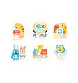 pet shop and vet clinic graphic emblem original vector image vector image