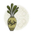 plant in pot asian style vector image