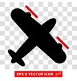 Propeller Aircraft Eps Icon vector image