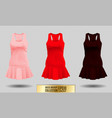 realistic detailed 3d women dress mock up pink vector image vector image