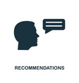 recommendations icon monochrome style design from vector image